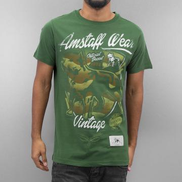 Amstaff T-Shirt Perro green