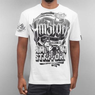 Amstaff T-Shirt Korsos weiß