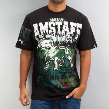 Amstaff T-Shirty Psyc czarny