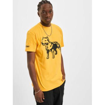 Amstaff Tričká Logo žltá