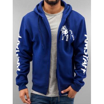 Amstaff Zip Hoodie Logo blå