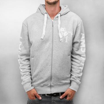 Amstaff Zip Hoodie Logo grey
