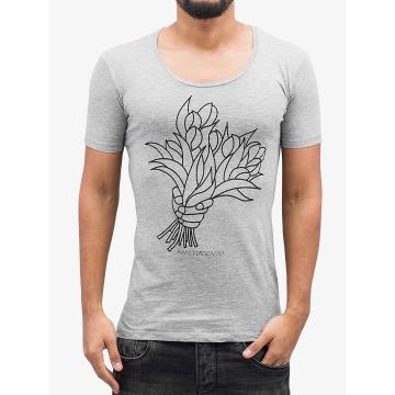 Amsterdenim t-shirt Aad grijs