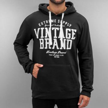 Authentic Style Hoody Vintage Brand zwart