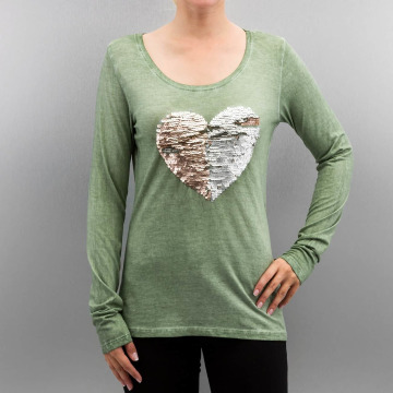 Authentic Style Longsleeve Heart grün