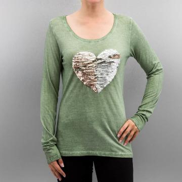 Authentic Style Pitkähihaiset paidat Heart vihreä