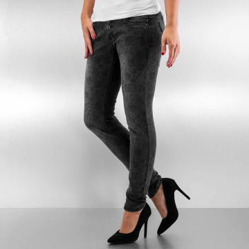 Authentic Style Skinny Jeans Roses black