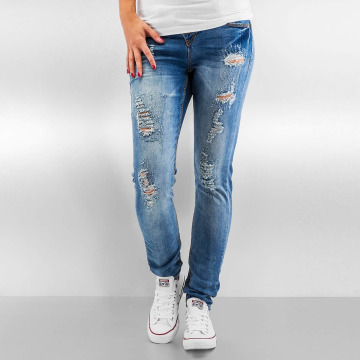 Rose bont. Authentic Style Skinny jeans Destroyed blauw