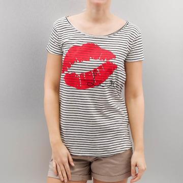 Authentic Style T-shirt Fresh Made Stripe bianco