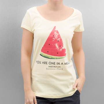 Authentic Style t-shirt Summer Fruit geel