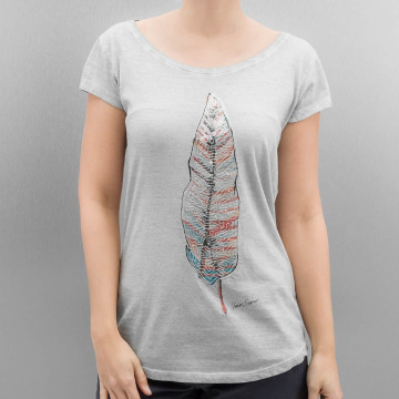 Authentic Style t-shirt Feather grijs