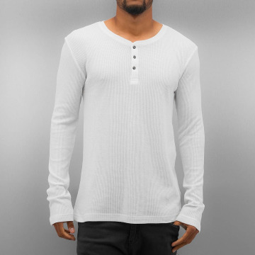 Authentic Style T-Shirt manches longues Henley blanc
