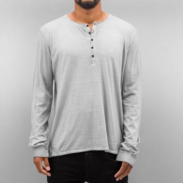 Authentic Style Tričká dlhý rukáv Dyed šedá