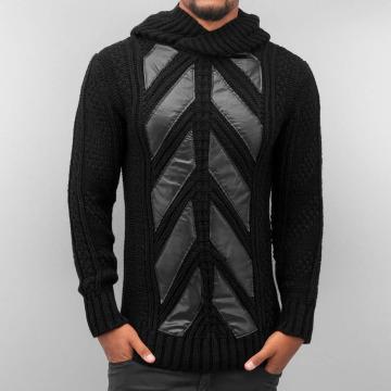 Bangastic Bluzy z kapturem Knitted czarny
