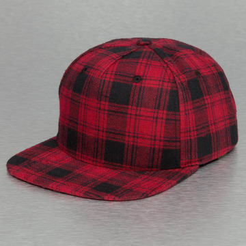 Bangastic Snapback Caps Checked red