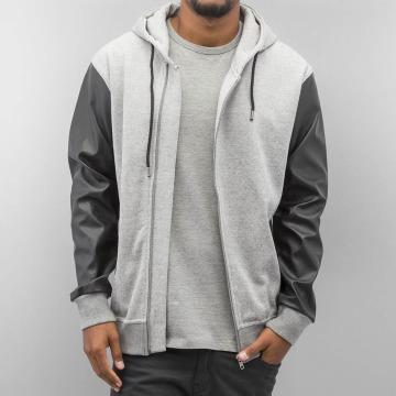 Bangastic Zip Hoodie PU Sleeve gray