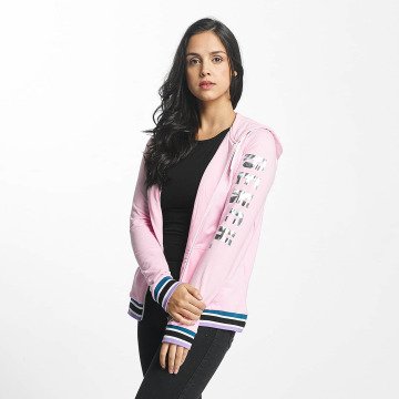 Bench Sweatvest Logo Zip Through pink