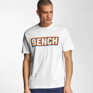 Bench T-Shirt Logo blanc