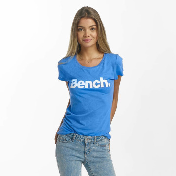 Bench T-Shirt Slim Logo blau