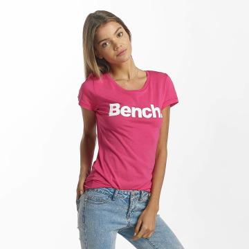 Bench T-shirt Slim Logo rosa