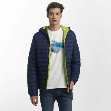 Bench Übergangsjacke Quilted Hooded blau