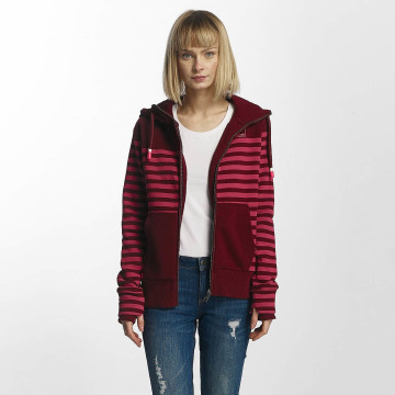 Bench Zip Hoodie Striped красный