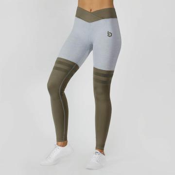 Beyond Limits Leggings Overknee Stripe grigio