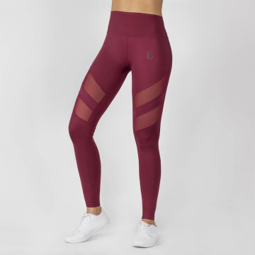 Beyond Limits Leggings/Treggings Super High Waist Mesh czerwony