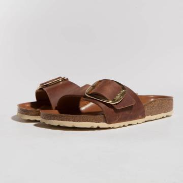 Birkenstock Badesko/sandaler Madrid Big Buckle brun