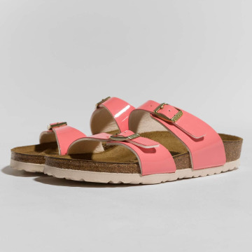 Birkenstock Claquettes & Sandales Sydney BF Patent Two Tone magenta