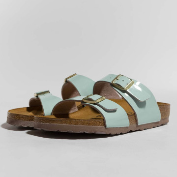 Birkenstock Sandal Sydney BF Patent Two Tone blå
