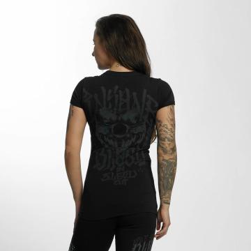 Blood In Blood Out Camiseta Magenta Harlekin negro
