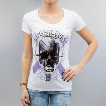 Blood In Blood Out T-Shirty Art Skull bialy