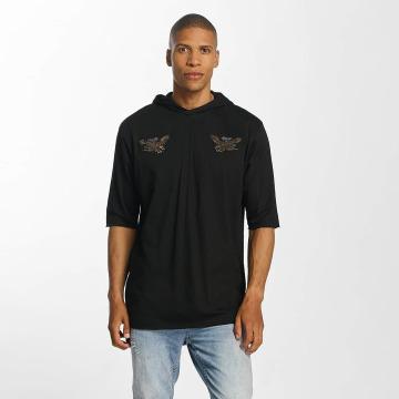 Brave Soul Bluzy z kapturem With X 2 Bird Embroideries czarny