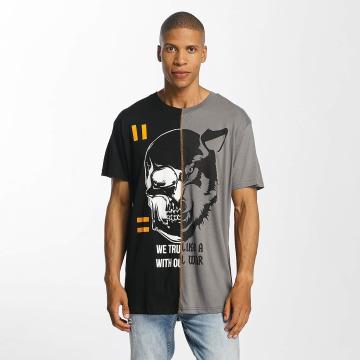 Brave Soul Camiseta Cut And Sew negro