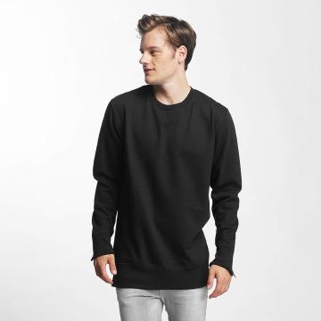 Brave Soul Swetry Long Line X2 Metal czarny