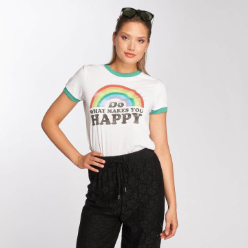 Brave Soul T-paidat Happy valkoinen