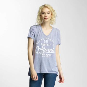 Brave Soul T-shirt Burn Out V-Neck blå