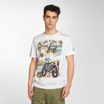 Brave Soul T-Shirt Waves blanc