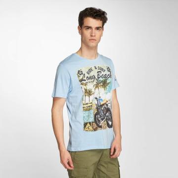 Brave Soul t-shirt Waves blauw