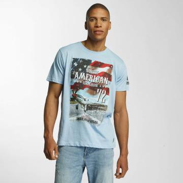 Brave Soul T-Shirt Large Crew Neck bleu