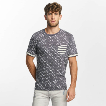 Brave Soul T-shirt All Over Star Print blu