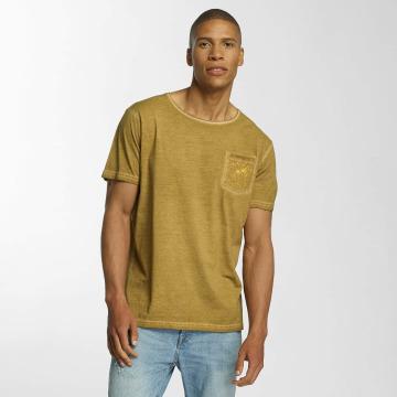 Brave Soul T-Shirt Crew Neck jaune