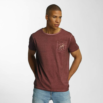 Brave Soul T-shirt Crew Neck röd