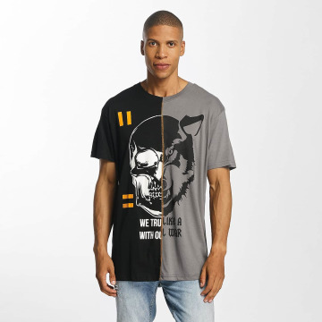 Brave Soul T-Shirt Cut And Sew schwarz