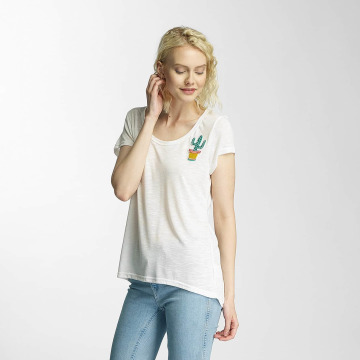 Brave Soul T-Shirt Cactus Badge white