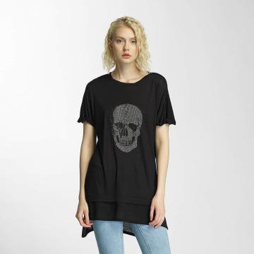 Brave Soul t-shirt Hotfix Stud Skull zwart