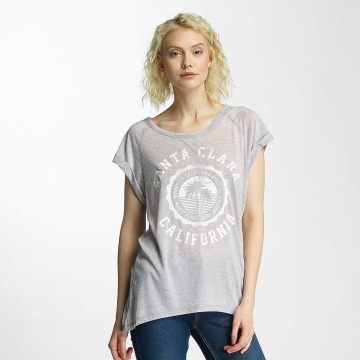 Brave Soul T-shirts Burn Out Crew Neck grå