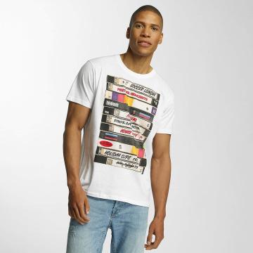 Brave Soul T-shirts All Over Crew Neck hvid