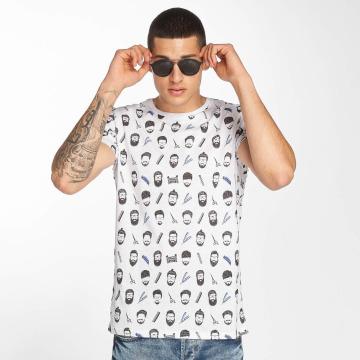 Brave Soul T-shirts Barber hvid